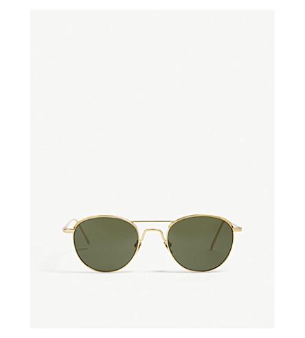 LINDA FARROW LFL623 oval-frame sunglasses (Yellow+gold