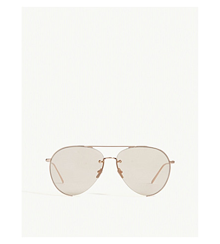 LINDA FARROW LFL624 aviator sunglasses (Rose+gold