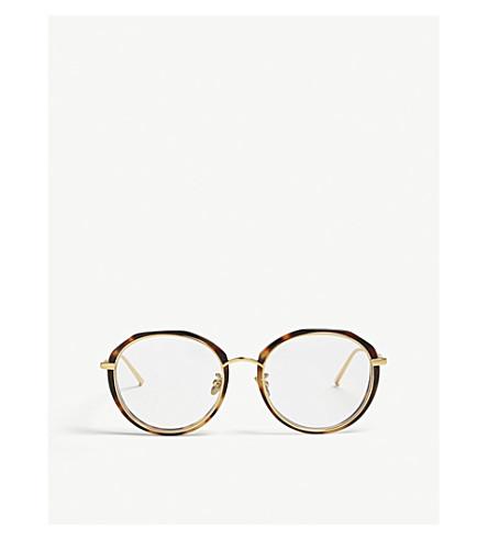 LINDA FARROW Lfl630 oval-frame tortoiseshell sunglasses (Tortoiseshell