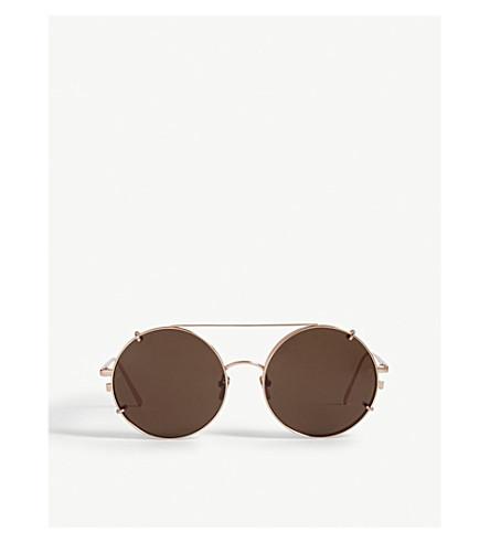 LINDA FARROW LFL647 round sunglasses (Rose+gold