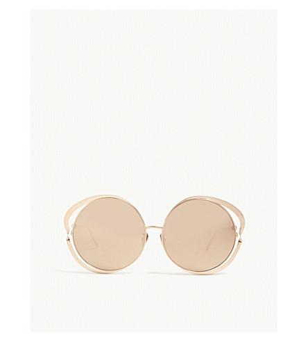 LINDA FARROW LFL660 round-frame sunglasses (Rose+gold