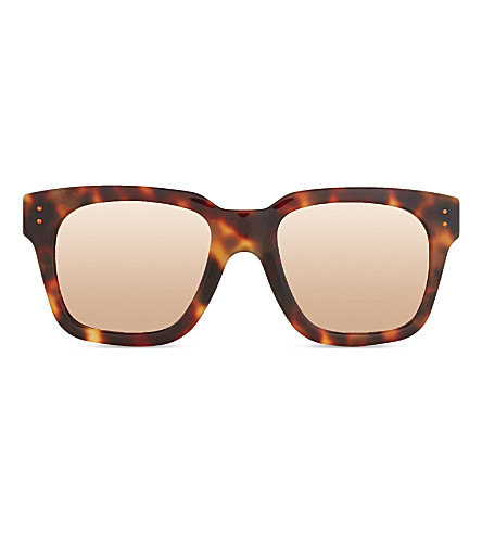 LINDA FARROW LFL7152 iconic d-frame sunglasses (Tortoise+rose+gold
