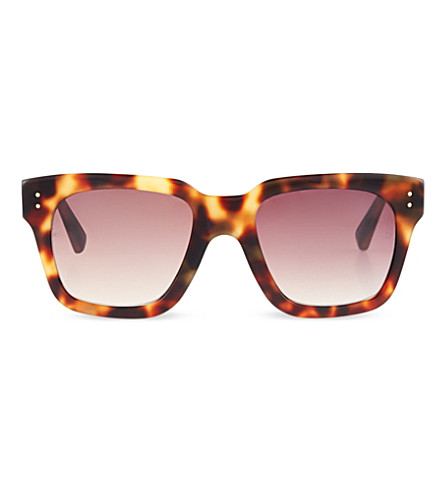 LINDA FARROW Square-rimmed sunglasses (Tortoiseshell