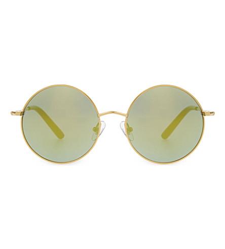 MATTHEW WILLIAMSON MW121 classic round sunglasses (Light gold & black