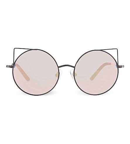 MATTHEW WILLIAMSON MW122 round cat-eye sunglasses (Black