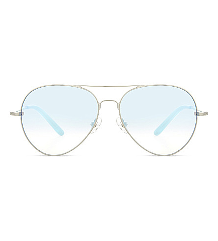 MATTHEW WILLIAMSON MW130 C18 Aviator sunglasses (Brushed+silver