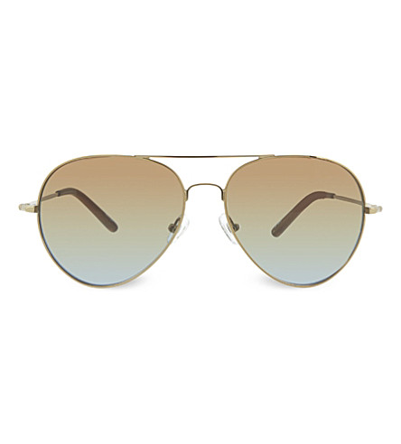 MATTHEW WILLIAMSON MW130 double bridge aviator sunglasses (Bronze