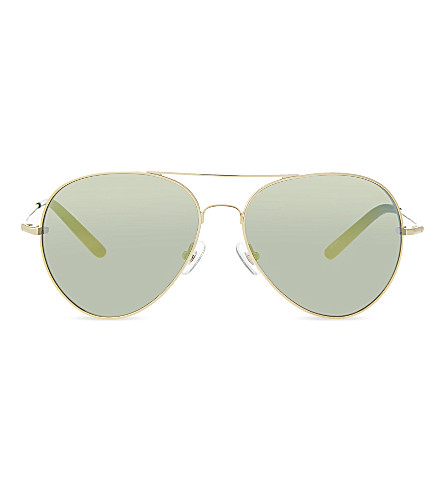 MATTHEW WILLIAMSON MW130 aviator sunglasses (Light+gold+&+black