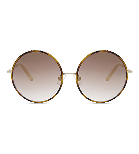 MATTHEW WILLIAMSON Mw159 C2 round sunglasses (Tortoiseshell