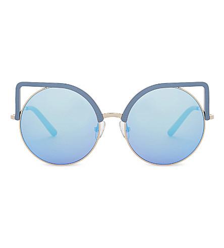 MATTHEW WILLIAMSON Mw169 cat-eye sunglasses (Royal+blue