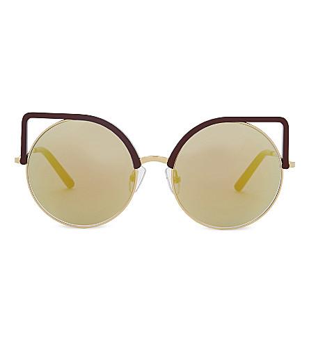 MATTHEW WILLIAMSON Mw169 cat-eye sunglasses (Plum
