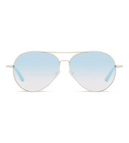 MATTHEW WILLIAMSON MW87C3 Jade silver mirror lens sunglasses (Jade