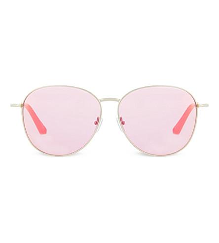 MATTHEW WILLIAMSON Round Revo lens sunglasses (Pink