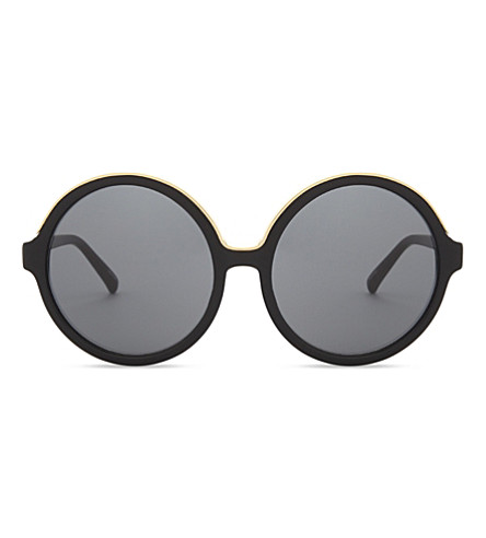 NO 21 N2111 round-frame sunglasses (Black