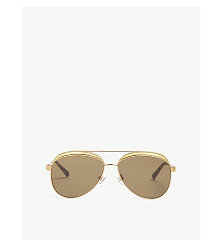 LINDA FARROW N21s6 aviator-frame sunglasses (Bronze