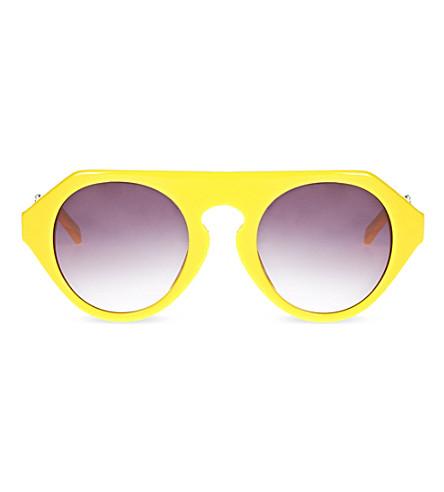 PRABAL GURUNG Yellow acetate sunglasses (Yellow
