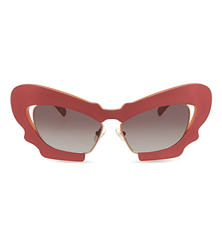 PRABAL GURUNG PG1 Sculptural mask cat eye sunglasses (Red