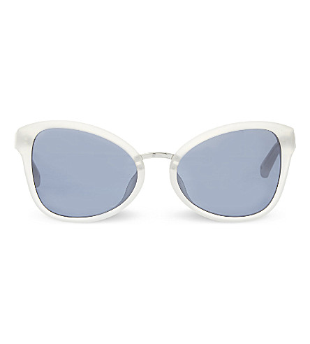 3.1 PHILLIP LIM PL102 cat eye sunglasses (White+&+silver