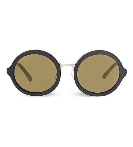 3.1 PHILLIP LIM PL11 round sunglasses (Black+&+silver