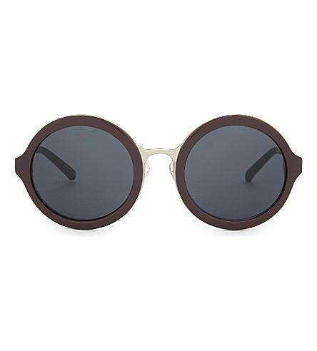 3.1 PHILLIP LIM PL11C25 clear round-frame sunglasses (Chocolate