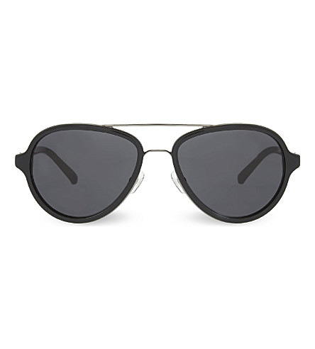 3.1 PHILLIP LIM PL16 aviator sunglasses (Black+&+gunmetal