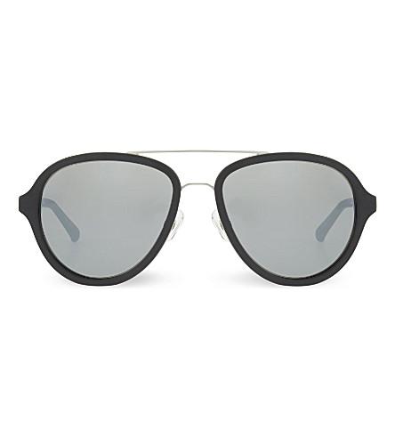 3.1 PHILLIP LIM PL16 aviator sunglasses (Black+&+silver