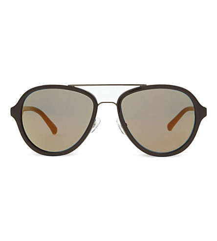 3.1 PHILLIP LIM PL16 aviator sunglasses (Chocolate+&+gunmetal