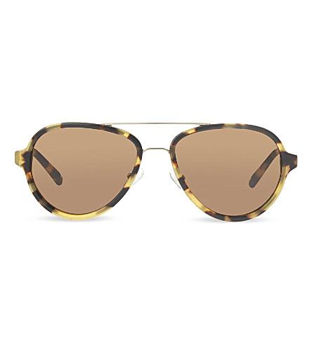3.1 PHILLIP LIM PL16 tortoise shell aviator sunglasses (Tortoise+&+gold