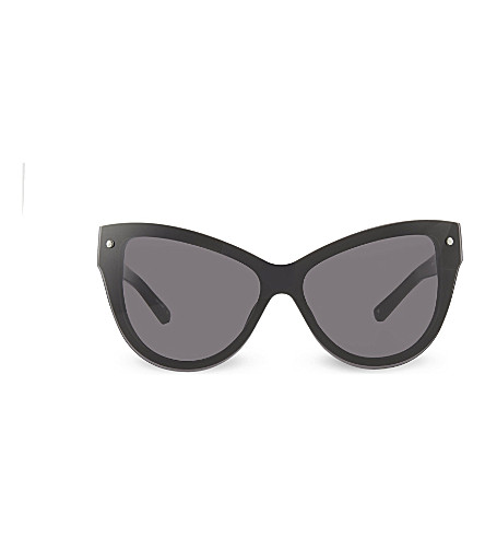 3.1 PHILLIP LIM PL76 Cat eye sunglasses (Black+&+silver