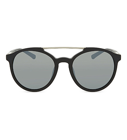 3.1 PHILLIP LIM PL90 aviator sunglasses (Black+&+silver