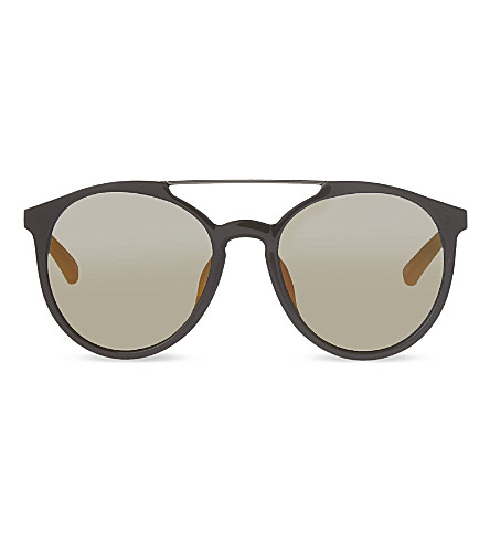 3.1 PHILLIP LIM PL90 aviator sunglasses (Chocolate+&+gunmetal