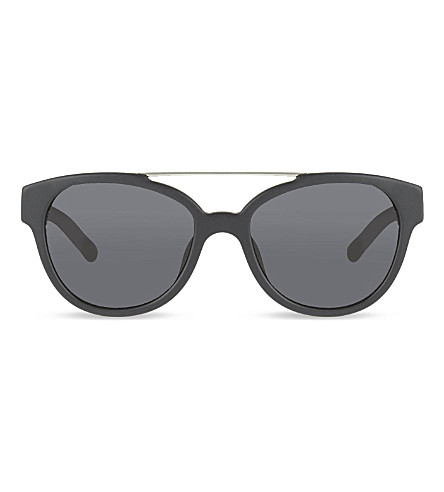3.1 PHILLIP LIM PL52 double bridge detail D-frame sunglasses (Black+&+silver