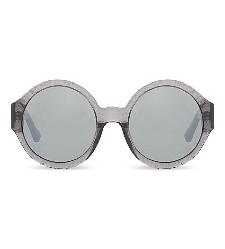 3.1 PHILLIP LIM PL99 Rippled Round sunglasses (Grey & silver