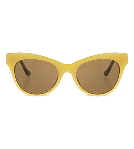 THE ROW Cat eye sunglasses (Gold & taupe