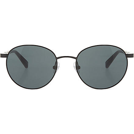 THE ROW Shiny black metal round-frame sunglasses (Black