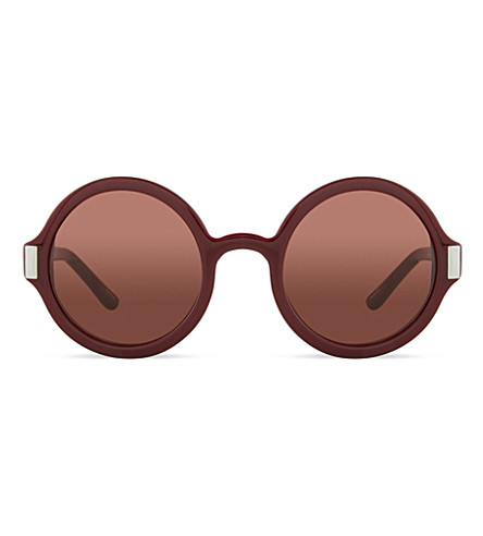 THE ROW ROW63C4 round acetate sunglasses (Deep red