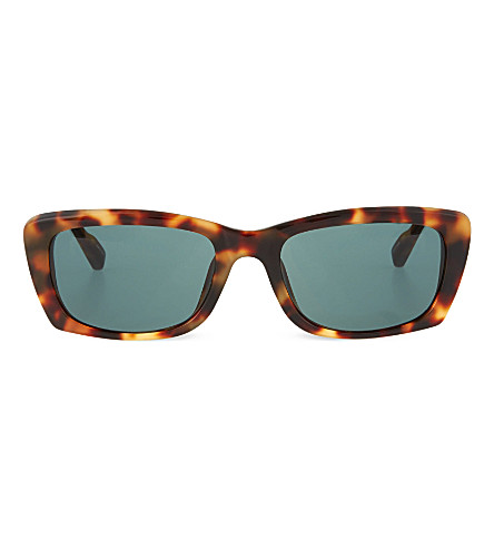 THE ROW Tortoiseshell leather sunglasses (Tortoiseshell walnut