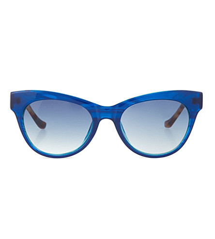 THE ROW Poolside cat eye sunglasses (Poolside blue & red