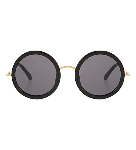 THE ROW Oversized round sunglasses (Black & gold