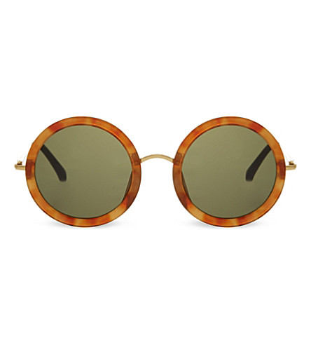 THE ROW ROW8C2 round sunglasses (Light+tortoise+shell