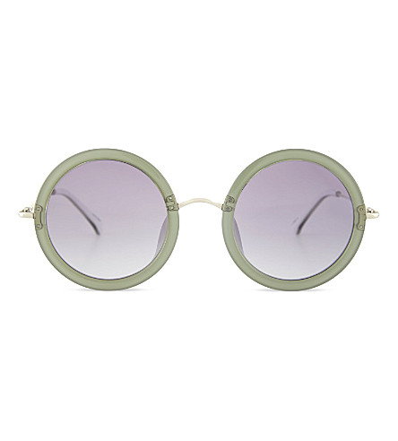 THE ROW ROW831 signature round sunglasses (Mint+white