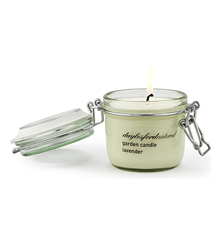 DAYLESFORD Lavender medium jar garden candle