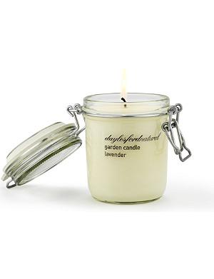 DAYLESFORD Lavender large jar garden candle