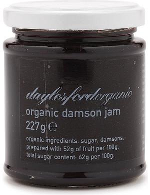 DAYLESFORD Organic damson jam 227g