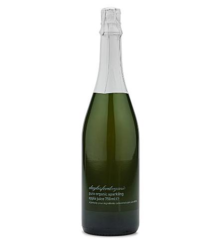 DAYLESFORD Organic sparkling apple juice 750ml