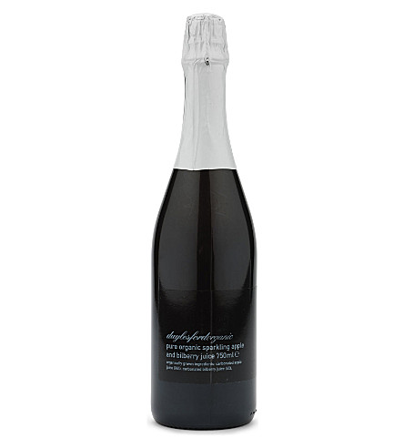 DAYLESFORD Organic sparkling apple & bilberry juice 750ml