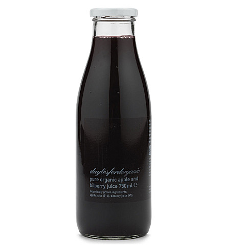 DAYLESFORD Organic apple & bilberry juice 750ml