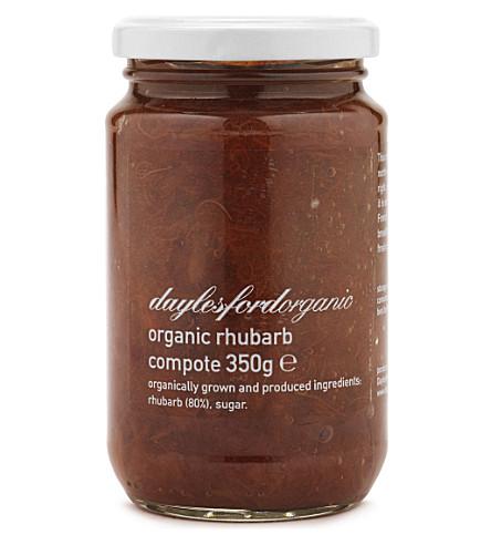 DAYLESFORD Organic rhubarb compote 350g