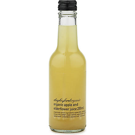 DAYLESFORD Organic apple & elderflower juice 250ml