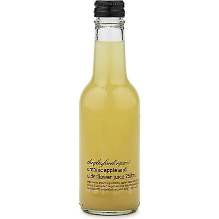 DAYLESFORD Organic apple & elderflower juice 250ml